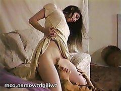 Brunette, Lesbian, Masturbation, Orgasm, Softcore