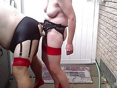 Anal, Femdom, Outdoor, Stockings, Strapon