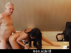 Brunette, Cunnilingus, Doggystyle, Old and Young