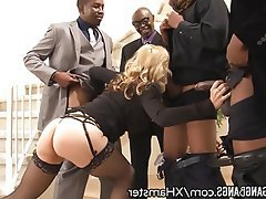 Creampie, Double Penetration, Facial, Gangbang, Interracial