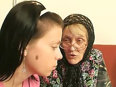 Blowjob, Cumshot, Granny, Old and Young, Threesome