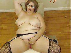 BBW, Masturbation, Webcam, Chubby