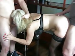German, Amateur, Anal, Cum in mouth, Threesome
