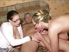 Teen, MILF, Teen, German, Threesome