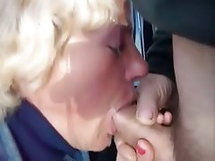 Blonde, Blowjob, Facial, Mature, Old and Young