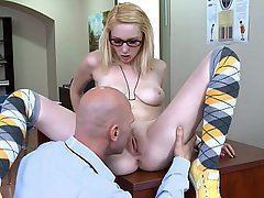 Blonde, Coed, Doggystyle, Fucking