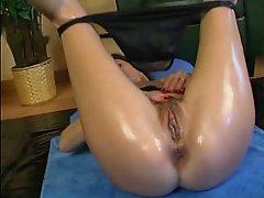 Anal, Ass, Brunette, Close Up, Dildo