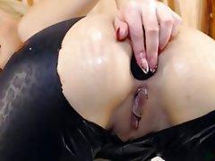 Anal, Blonde, Masturbation, Webcam