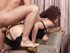 Cumshot, German, Granny, Old and Young, Stockings