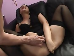 Anal, Brunette, French
