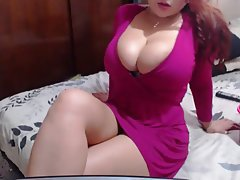 Big Boobs, Masturbation, Redhead, Webcam