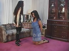 BDSM, Lesbian, Big Boobs, Brunette, Foot Fetish