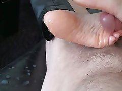 Amateur, Close Up, Cumshot, Foot Fetish