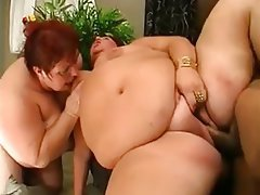 BBW, Granny, Old and Young, Threesome