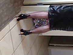 Lingerie, MILF, Pantyhose, Redhead, Stockings