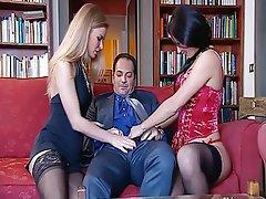 Anal, Blonde, Brunette, Lingerie, Threesome