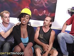 Big Boobs, Gangbang, Interracial
