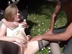 Blonde, French, Hardcore, Outdoor, Threesome